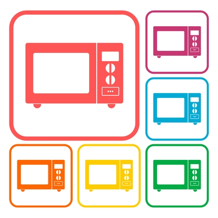 microwave oven: Microwave oven sign icons