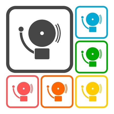 burglary: Alarm icon, School icons set Illustration