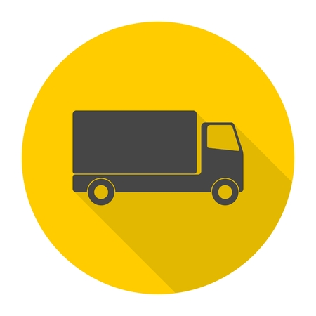 long distance: Truck icon Illustration