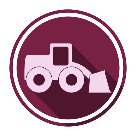 heavy duty: Loader icon with long shadow Illustration