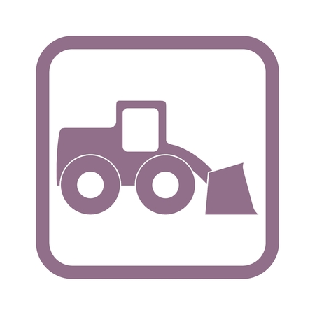 heavy duty: Loader icon Illustration
