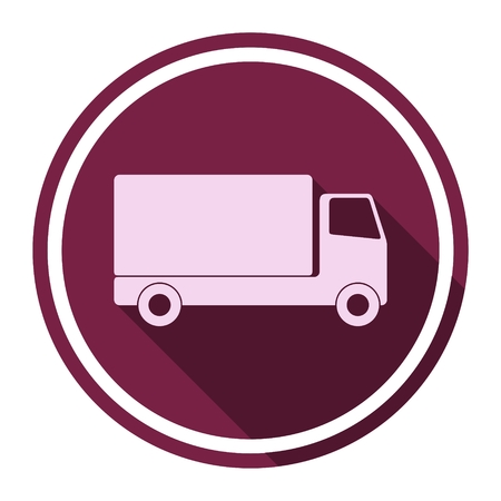 long distance: Truck icon with long shadow