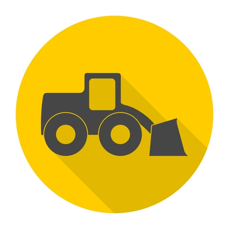 loader: Loader icon with long shadow Illustration