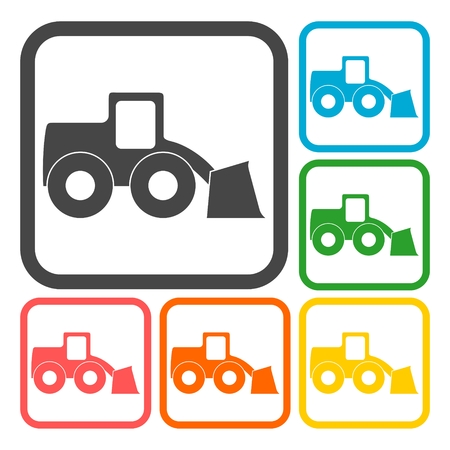 heavy duty: Loader icons set Illustration
