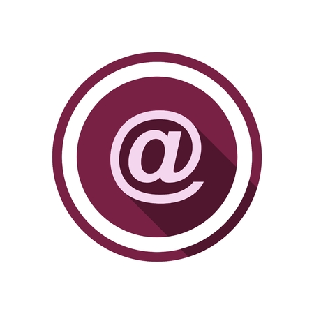 get in touch: Email icon with long shadow