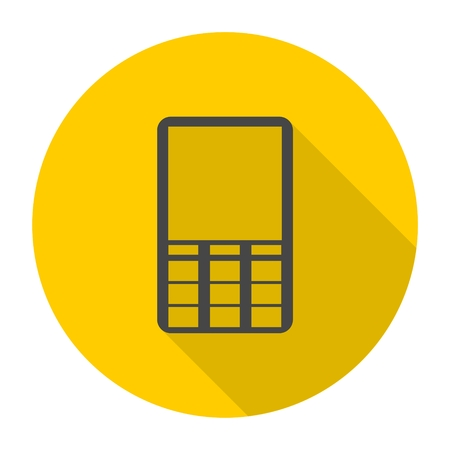 mobile phone icon: Mobile icon, Phone icon with long shadow