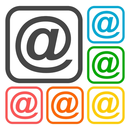 get in touch: Email icons set Illustration