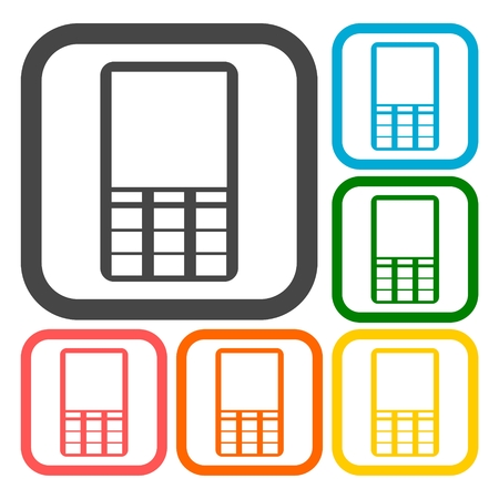 hands free phones: Mobile icon, Phone icons set