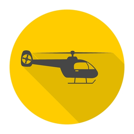 privat: Helicopter icon with long shadow Illustration