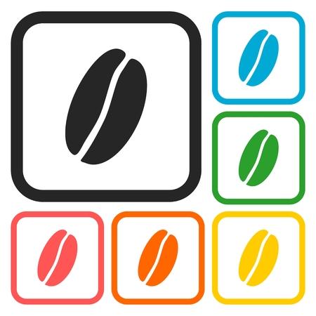 expresso: Coffee beans symbols set