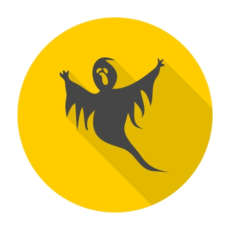 ghastly: Ghost icon with long shadow
