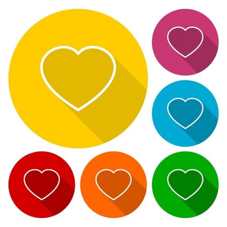 super cross: iconos favoritos establecen con mucho shadov, la muestra del corazón