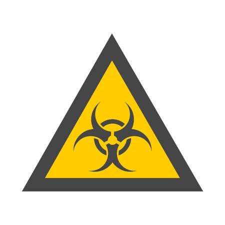 riesgo biologico: Señal de peligro biológico icono amarillo