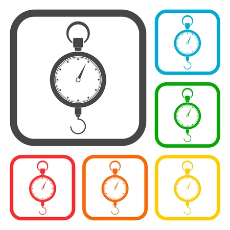 Scales icons set