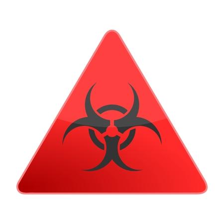 the bacteria signal: Biohazard sign icon