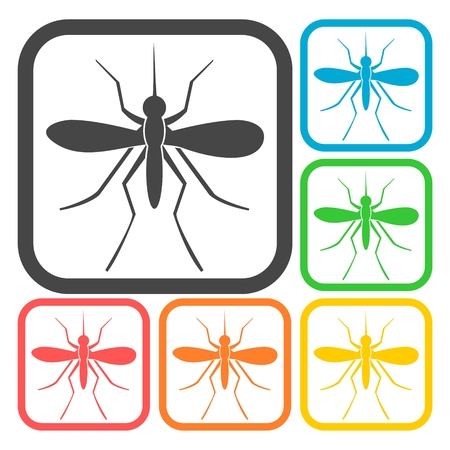 insect repellent: Mosquito icons set Illustration