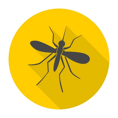infect: Mosquito icon with long shadow