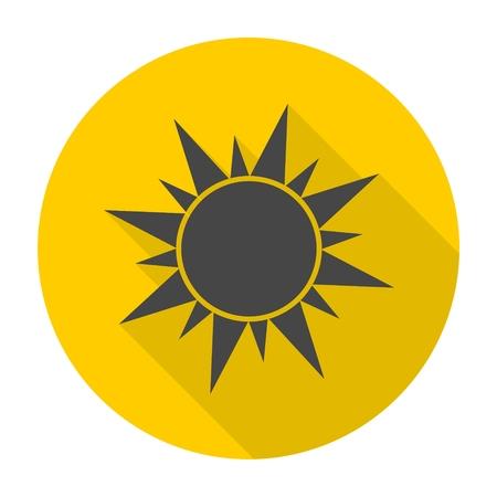icono del sol con una larga sombra