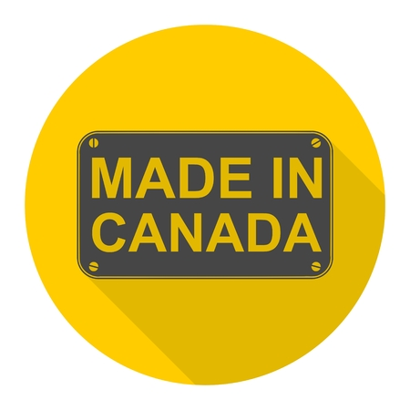 Made in Canada icon with long shadow