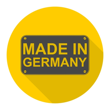 made in germany: Made in Germany icon with long shadow