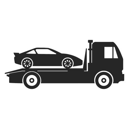 camion de remorquage de voiture icône