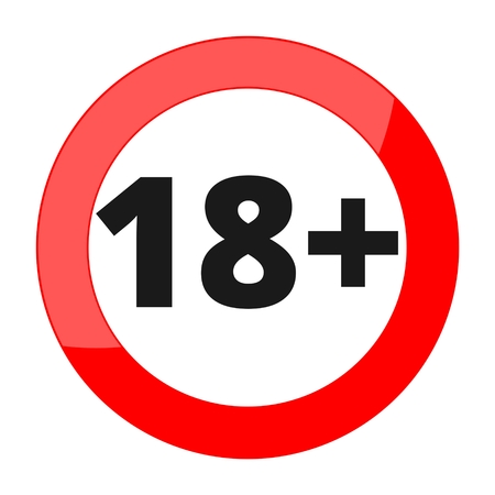 restriction: 18+ age restriction sign