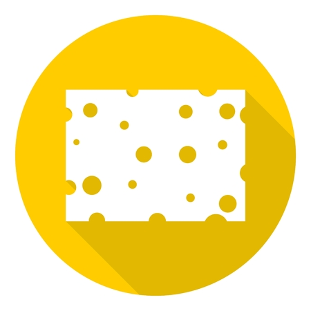 edibles: Cheese icon with long shadow