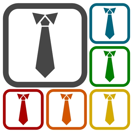 taylor: Necktie, vector illustration icons set Illustration