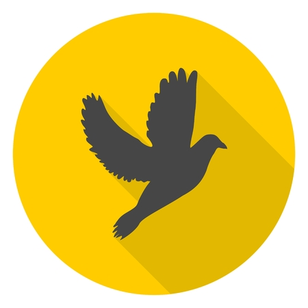 high spirits: Dove icon with long shadow