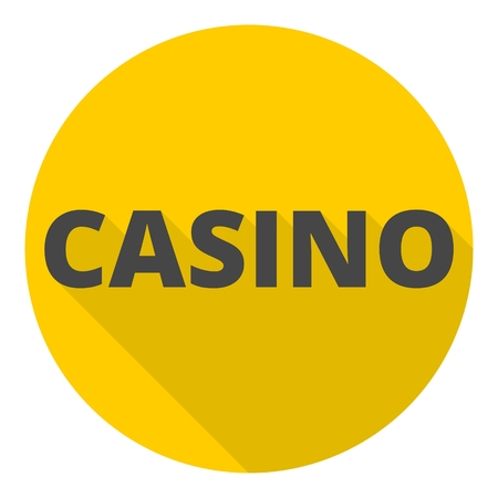 online roulette: Casino icon with long shadow