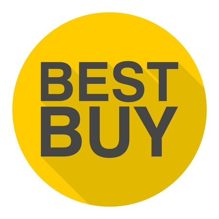 buy icon: Best Buy icon with long shadow Illustration