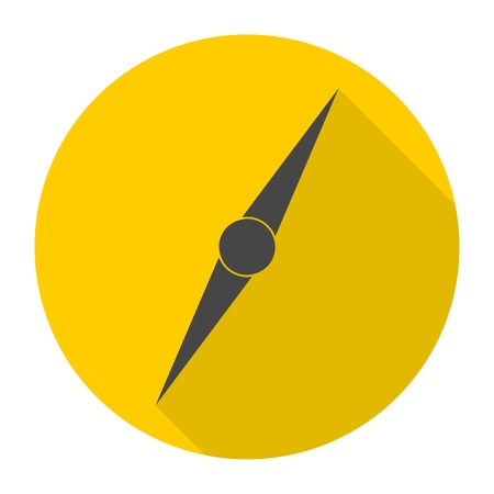 azimuth: Compass needle icon with long shadow