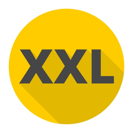 extra large size: XXL icon with long shadow