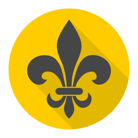 lis: Fleur de lis icon with long shadow