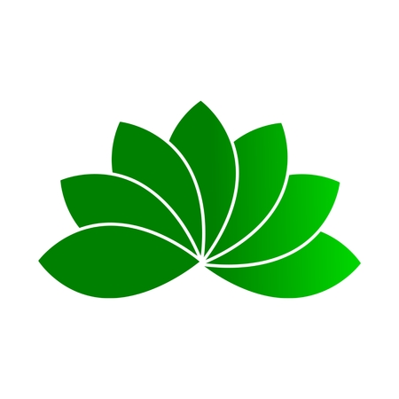 wheel guard: Green leaf icon Illustration