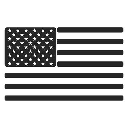 black american: USA (American) flag icon black and white