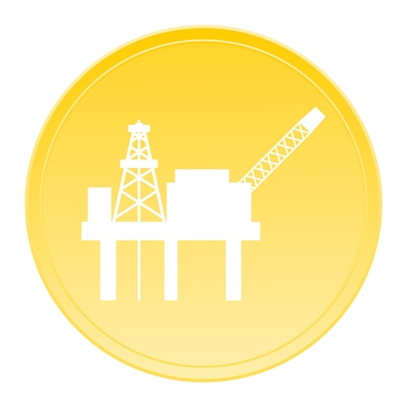 oilwell: Oil platform gold icon