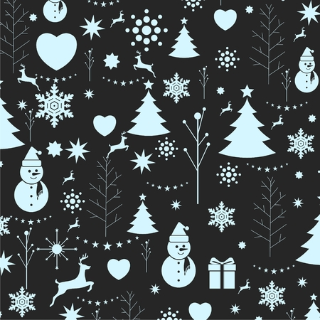 snow white: Christmas background, seamless tiling, great choice for wrapping Illustration