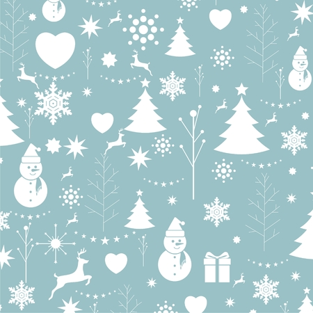 wrapping: Christmas background, seamless tiling, great choice for wrapping Illustration