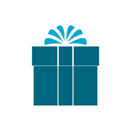blue gift box: Blue Gift box icon