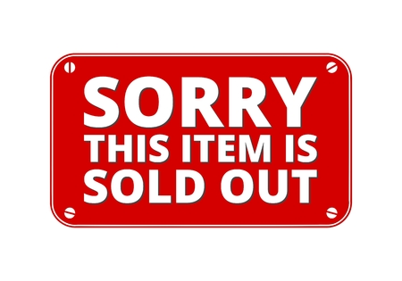 brass plate: Sorry This item is Sold out - brass plate