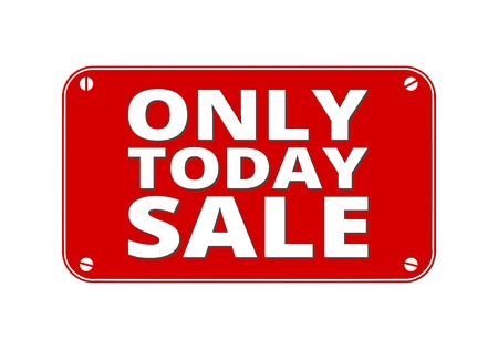 Only Today Sale - brass plate