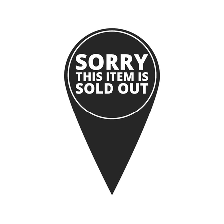 hanging out: Sorry This Item is Sold Out - map pointer
