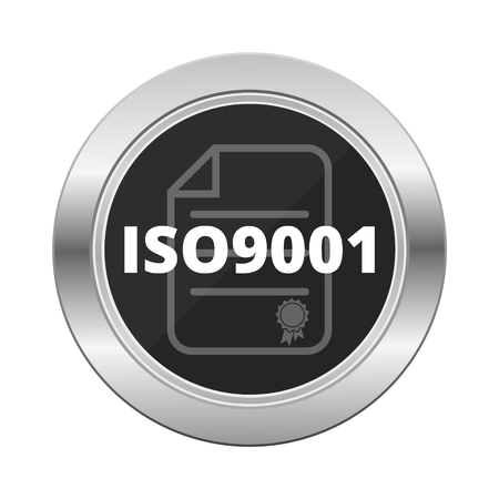 standard steel: 9001, iso, standard, steel, white, tag, sign, glossy, symbol, iso9001, app, circle, service, satisfaction, technology, security, label, management, warranty, modern, system, number, certificate, round, shiny, industrial, web, design, blue, quality, compan Illustration