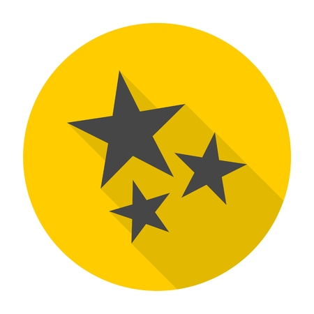 favorite colour: Three stars icon with long shadow