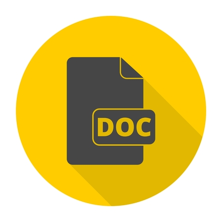 doc: File Doc icon with long shadow