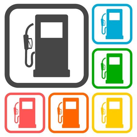 Gas pump icons set