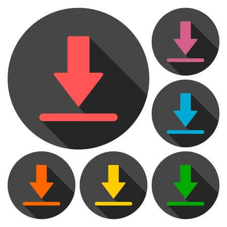 plugin: Download icons set with long shadow