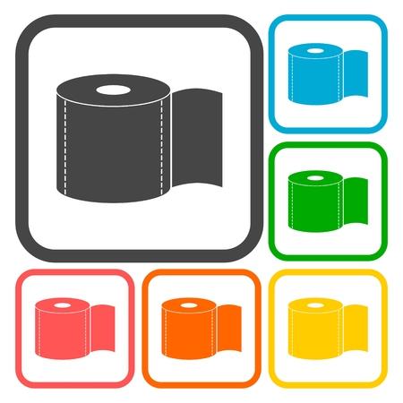 toilette paper: Aseo conjunto de iconos de papel Vectores