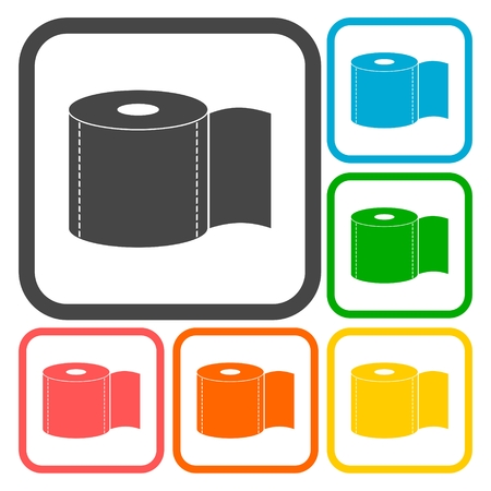 bath room: Toilet Paper Icons set